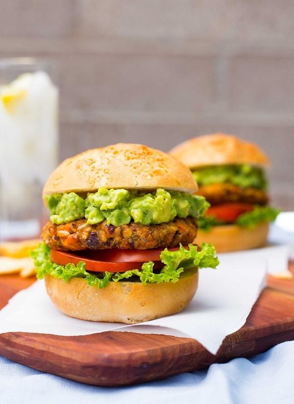 Green Chili and Sweet Potato Veggie Burgers-8804