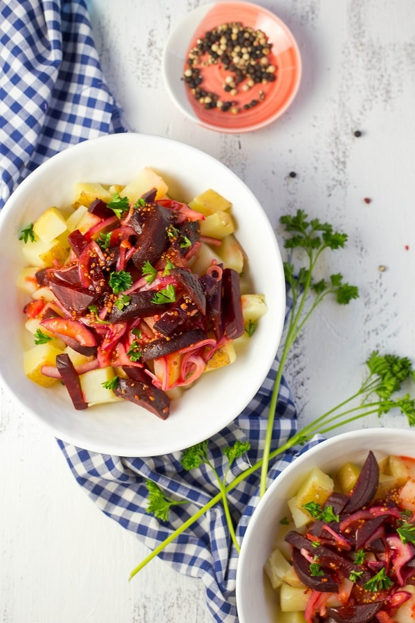 Ye'Denich Be'Kaysir Atakilt (Potatoes with Pickled Beets In A Lime Vinaigrette) + Cookbook Review-6459