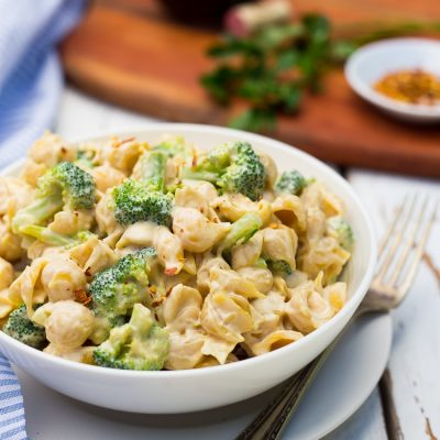 Cashew Alfredo Pasta with Broccoli