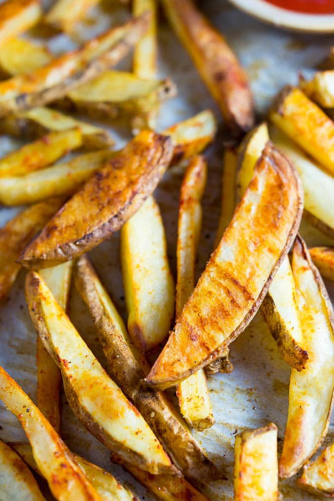 you try these oven baked fries, you will never buy frozen French fries ...