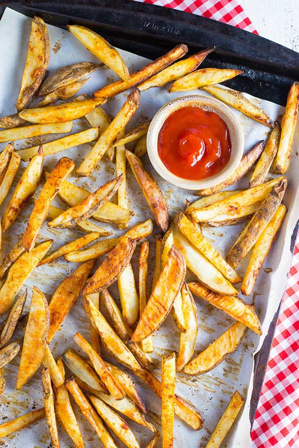 Crispy Oven Baked French Fries - Main