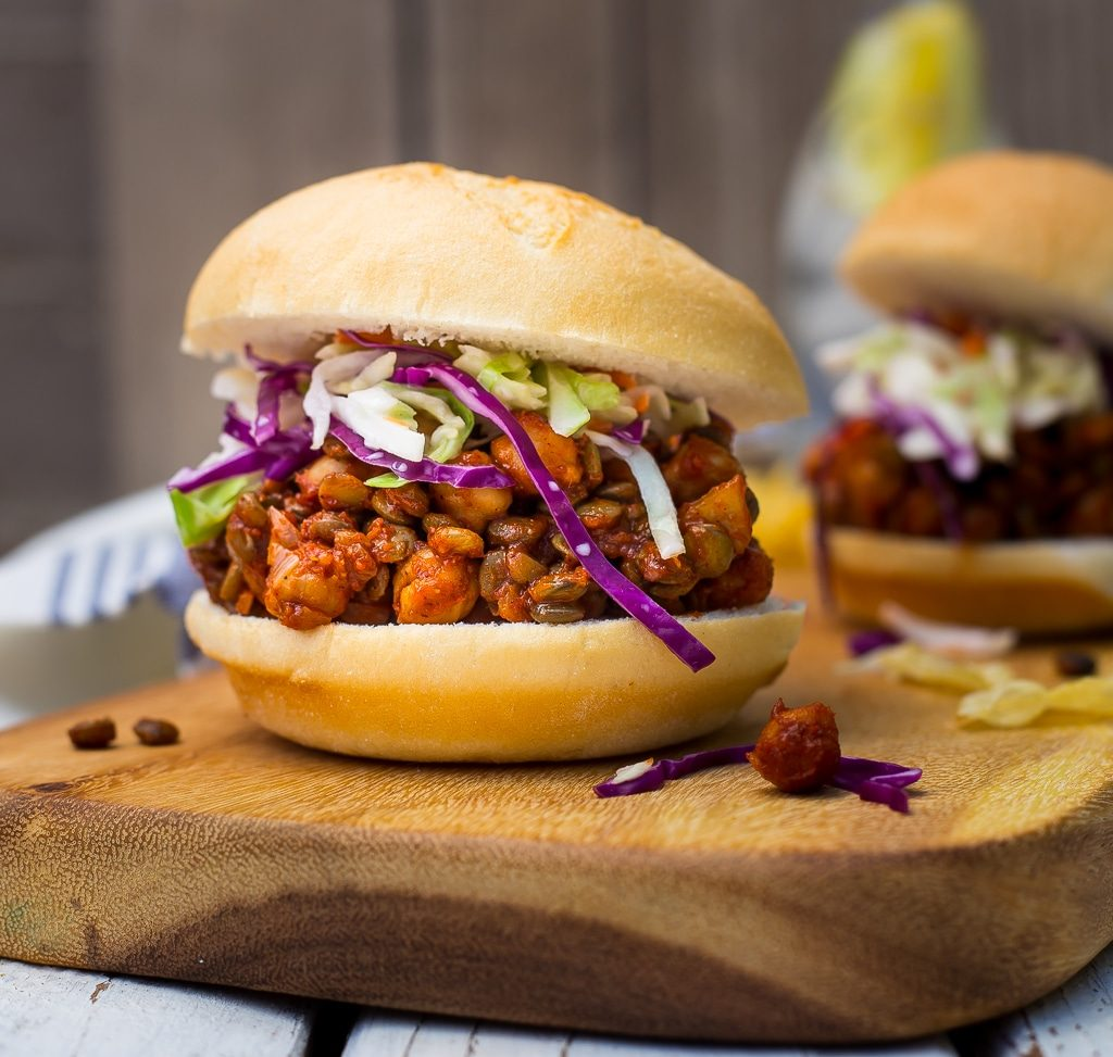 Vegetarian Sloppy Joes with Lentils and Chickpeas {vegan} - She Likes ...