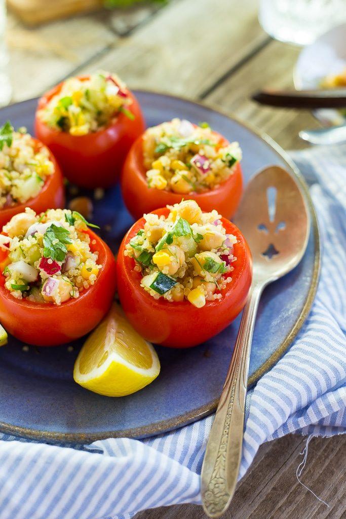 Quinoa and Chickpea Stuffed Tomatoess-0539
