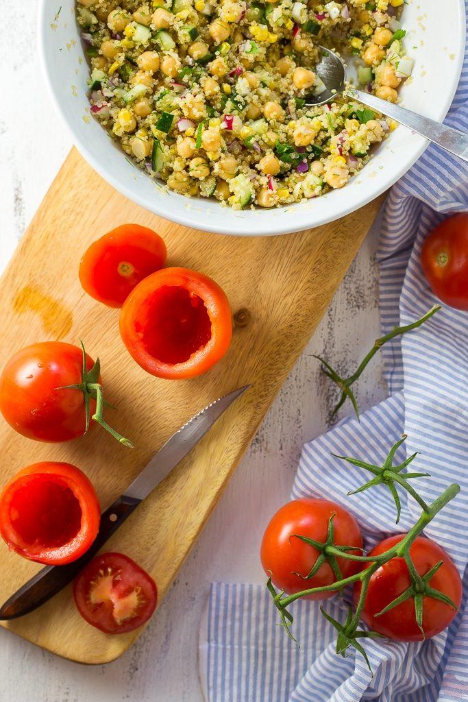 Quinoa and Chickpea Stuffed Tomatoesss-0393