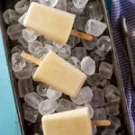 Sweet Corn and Coconut Milk Popsicles