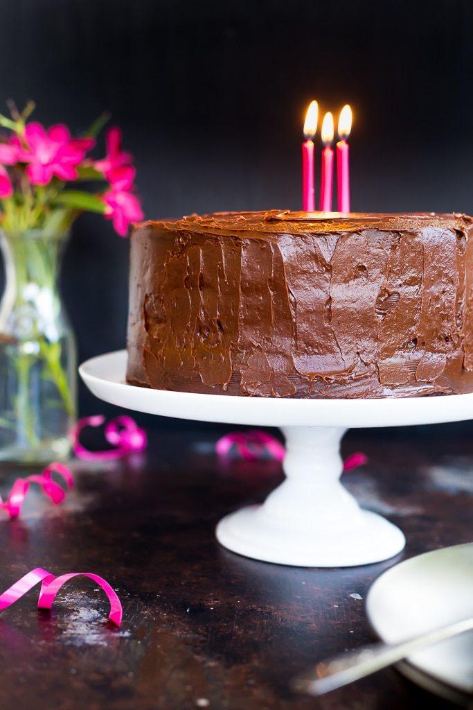 Gluten Free Three Layer Chocolate Cake-2129