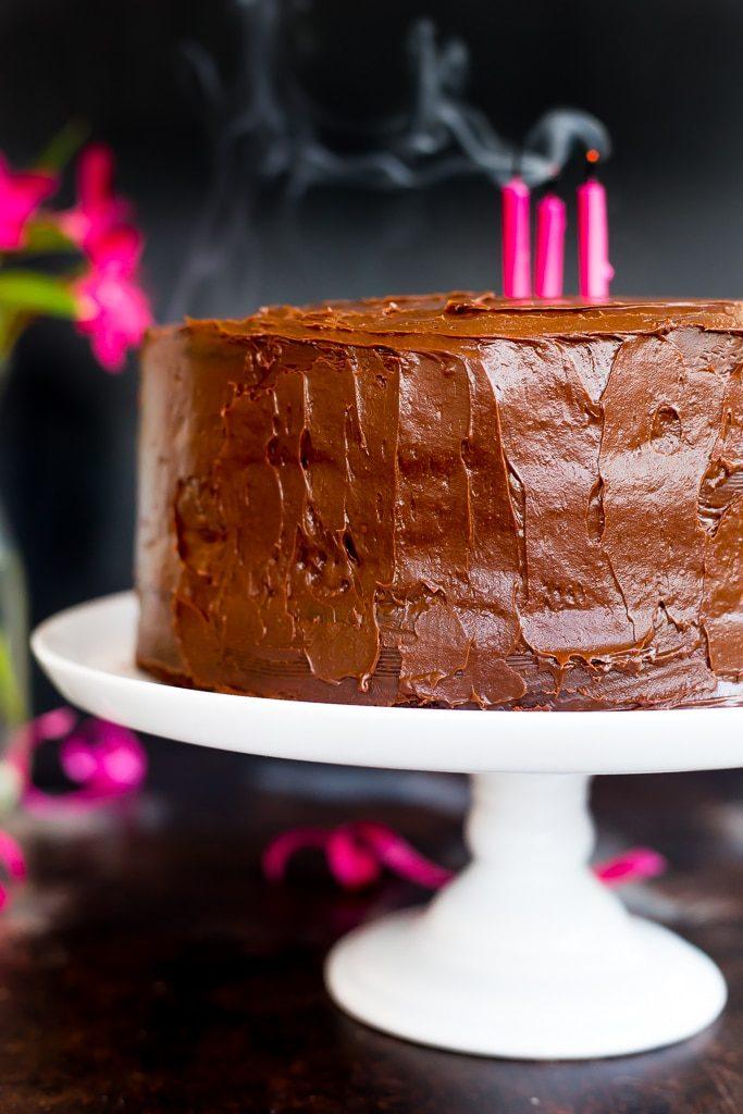 Gluten Free Three Layer Chocolate Cake She Likes Food