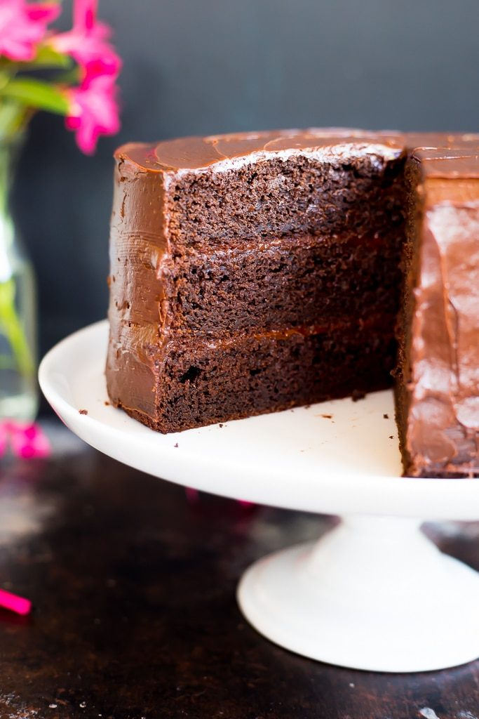 Gluten Free Three Layer Chocolate Cake-2188