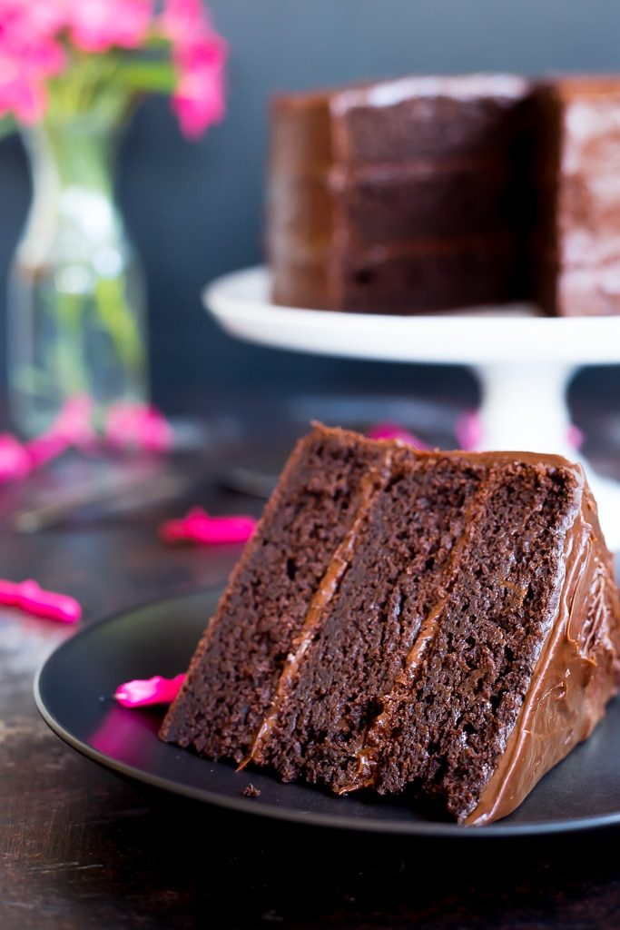 Gluten Free Three Layer Chocolate Cake! This chocolate cake is so good ...