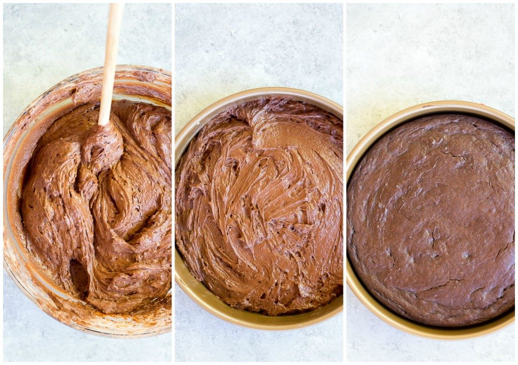 Gluten Free Three Layer Chocolate Cake Collage