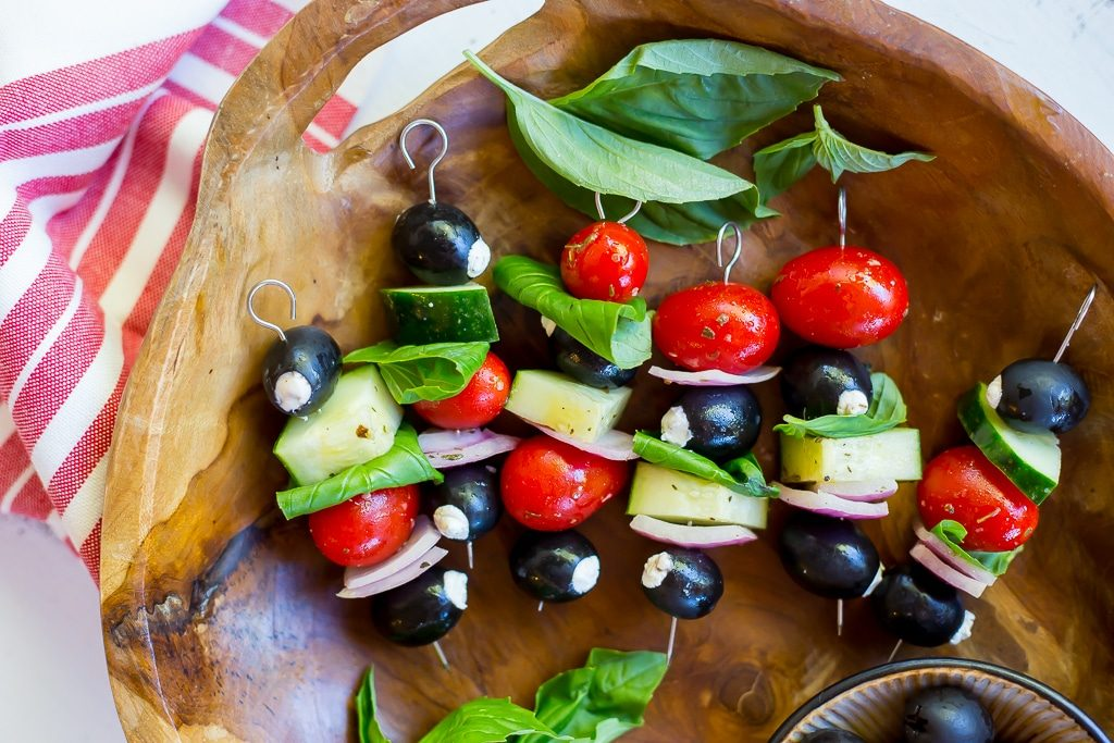 Goat Cheese Stuffed Black Olive Mediterranean Kabobs-2291