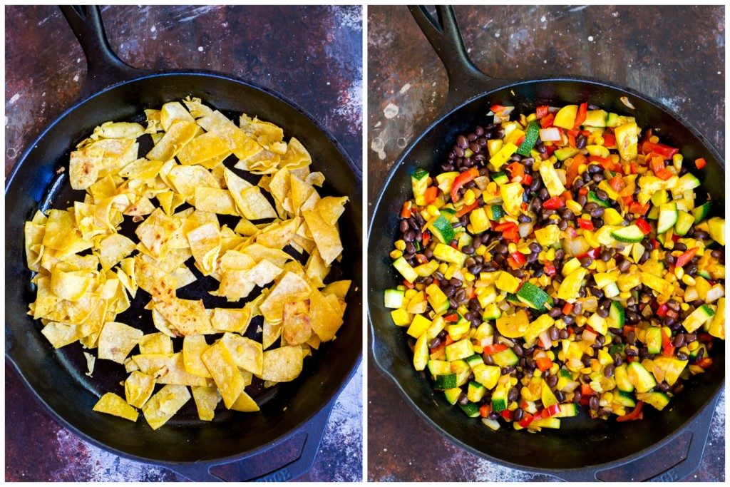 One Pot Stove Top Enchiladas Step 1