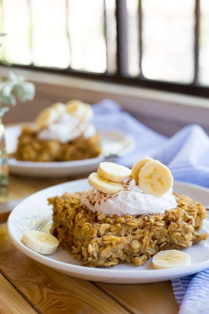 Peanut Butter and Banana Baked Oatmeal-3690