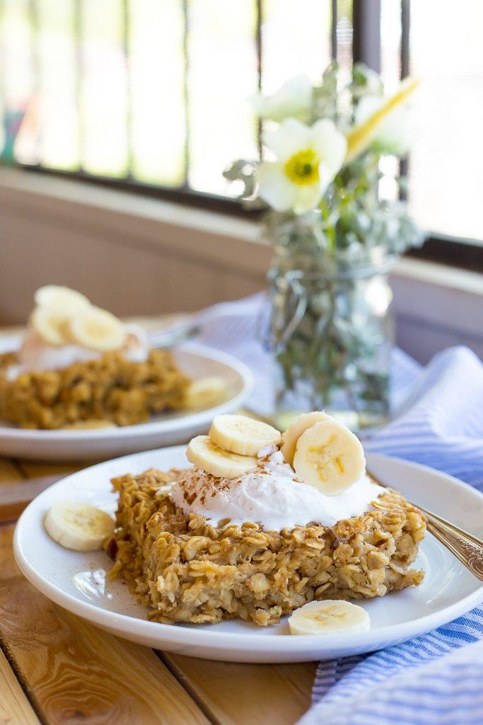 Peanut Butter and Banana Baked Oatmeal-3705