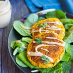 Butternut Squash Falafel with Maple Tahini Sauce