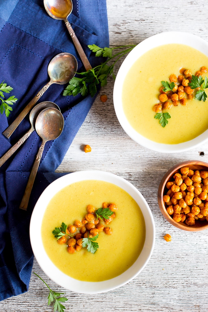 Curry Cauliflower & Potato Soup with Crispy Chickpeas-8314