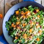 Fall Quinoa Salad with Kale, Sweet Potato & Maple Tahini Dressing