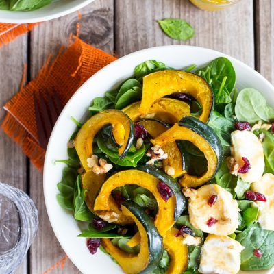 Roasted Acorn Squash Salad with Honeyed Goat Cheese