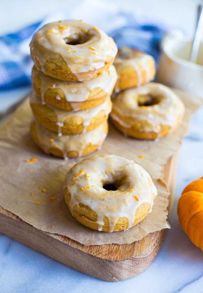 Gluten Free Pumpkin Orange Glazed Dougnuts-8935