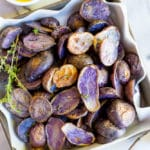 Roasted Purple Potatoes with Lemon, Dijon & Thyme Dressing