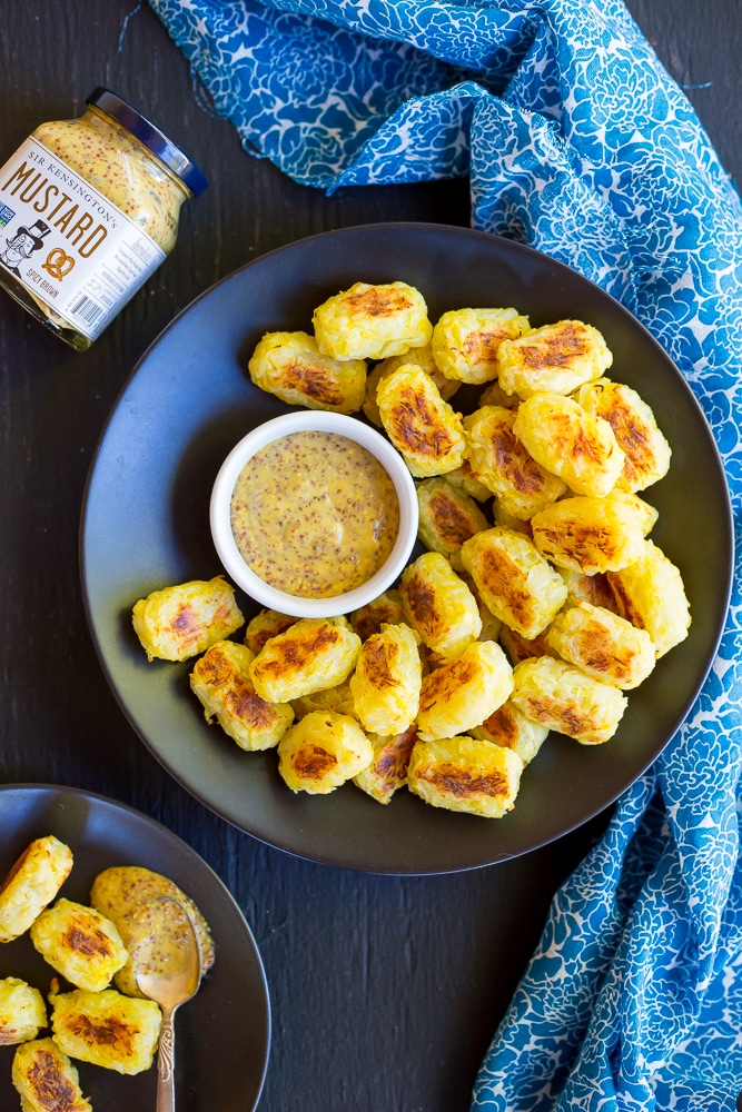Spaghetti Squash Tater Tots with Maple Mustard Dip-9969