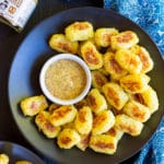 Spaghetti Squash Tater Tots with Maple Mustard Dip