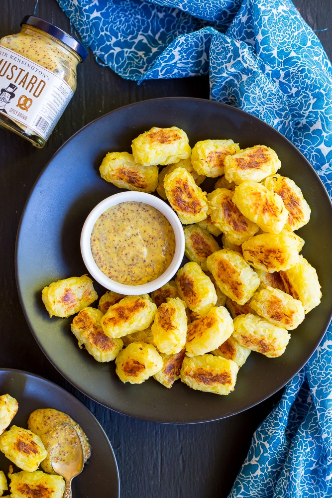 Spaghetti Squash Tater Tots with Maple Mustard Dip-Main