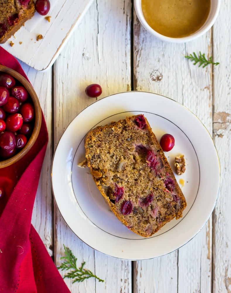 This Gluten Free Banana Cranberry Honey Bread is the perfect seasonal twist on your regular banana bread! It is so delicious you will want to make it again and again!