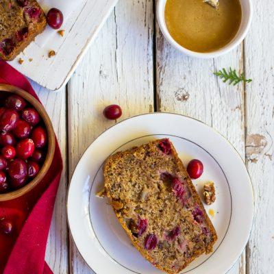 Gluten Free Banana Cranberry Honey Bread
