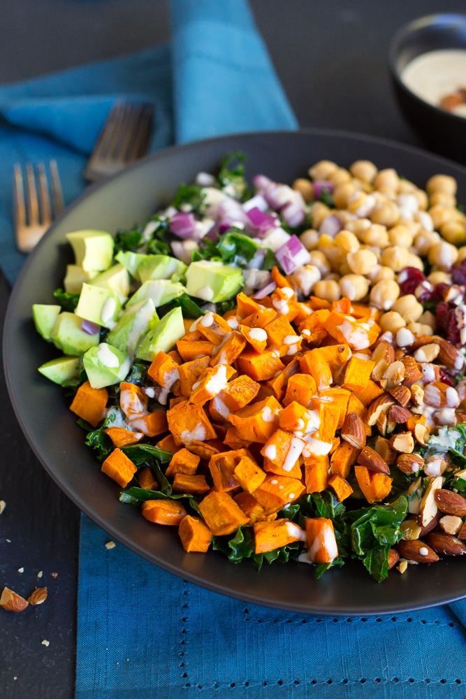 Quinoa Salad With Roasted Sweet Potatoes, Kale, Dried ...