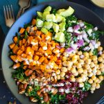 Chopped Kale Power Salad with Lemon Tahini Dressing