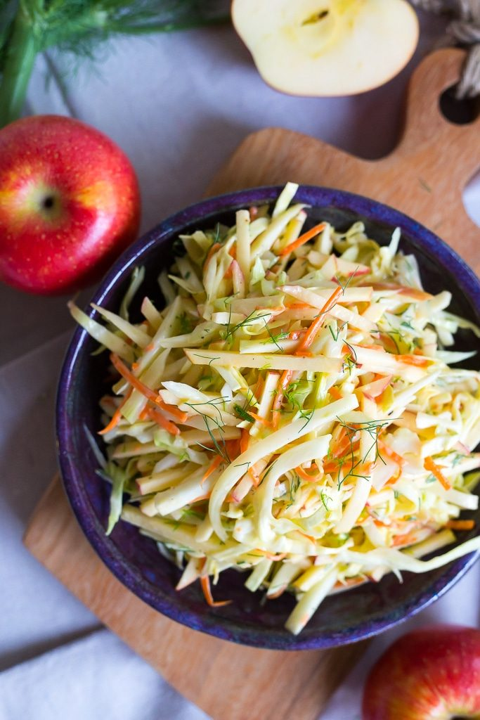 Crisp and refreshing Fennel and Apple Coleslaw! Perfect for a side ...