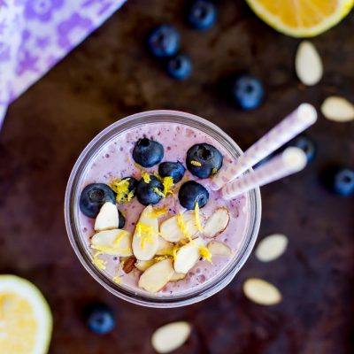 Lemon, Wild Blueberry & Almond Protein Smoothie