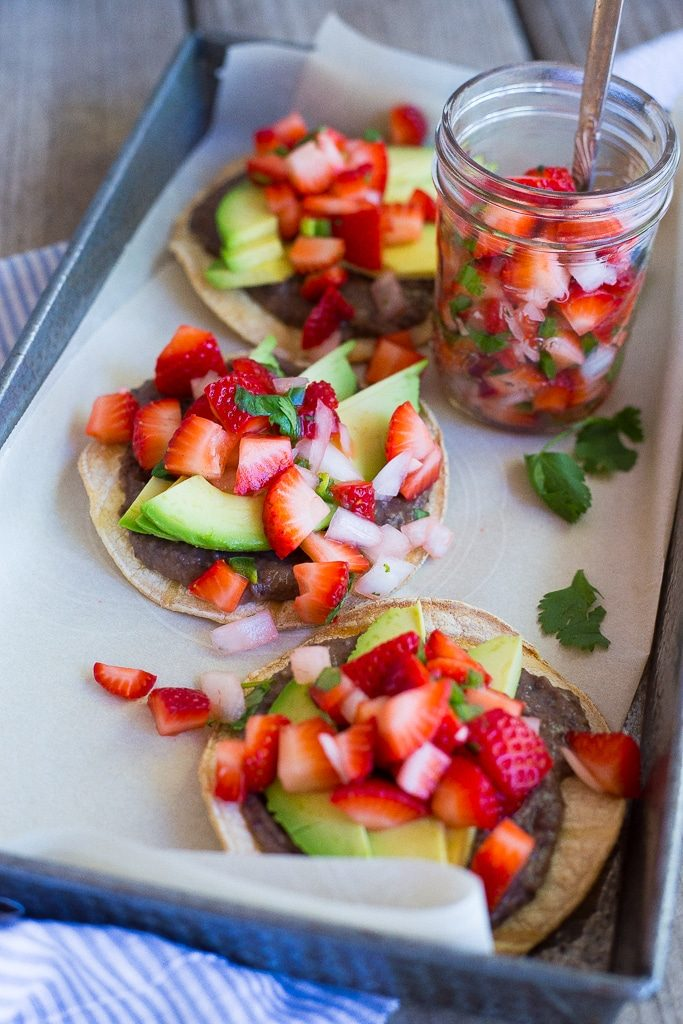 Black Bean & Avocado Tostadas with Strawberry Salsa-2379