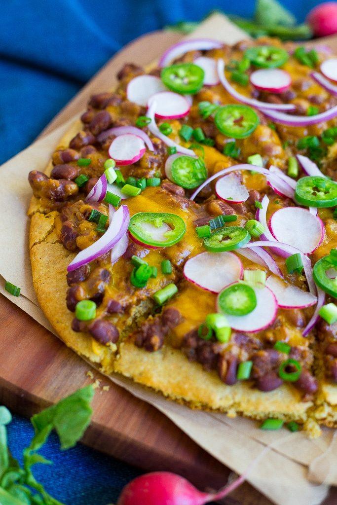 Vegetarian Chili Cornbread Pizza-2623