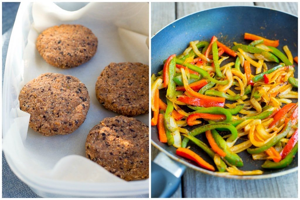 your veggie burgers by making these Black Bean Fajita Veggie Burgers ...