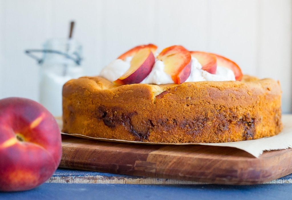 Fresh Peach Cake with Streusal Filling-5157