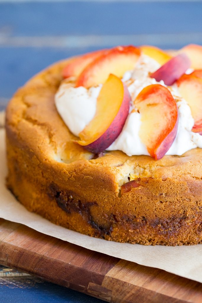 Fresh Peach Cake with Streusel Filling (Gluten Free)-5211