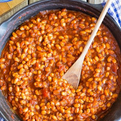 Stove-Top BBQ Baked Beans {Vegetarian}