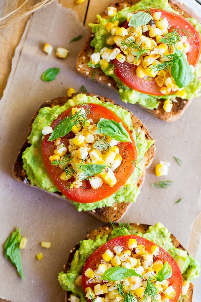 Summer Avocado Toast with Grilled Corn-5329