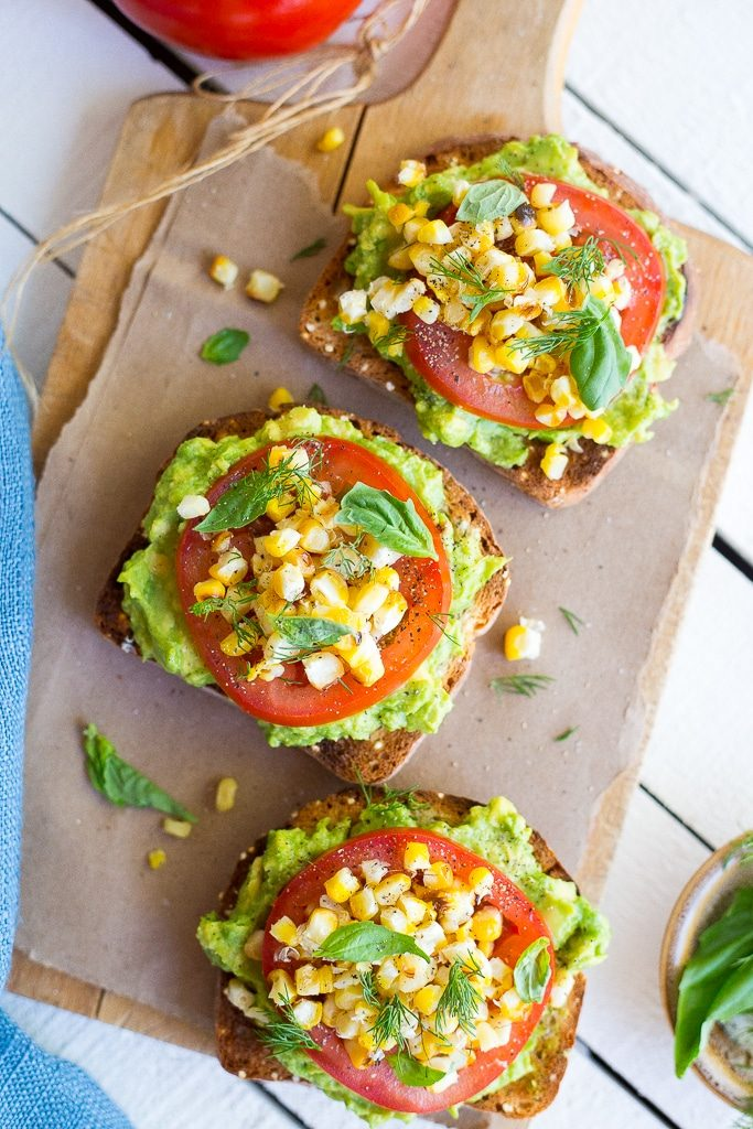 Summer Avocado Toast with Grilled Corn-5350