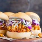 Tofu & Chickpea BBQ Sandwiches