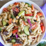 Creamy Tahini Greek Pasta Salad