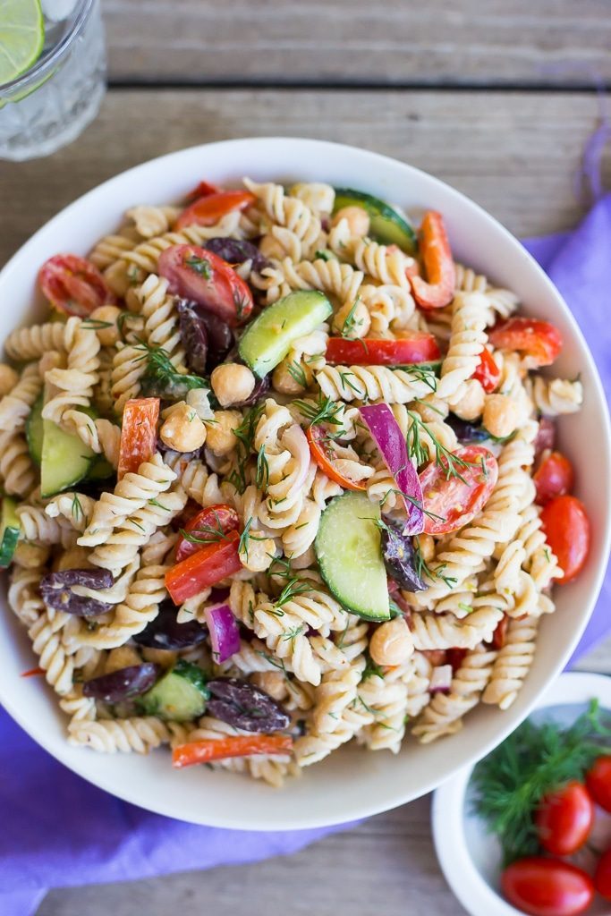 This Creamy Tahini Greek Pasta Salad Is So Easy To Make And Perfect For Lunch