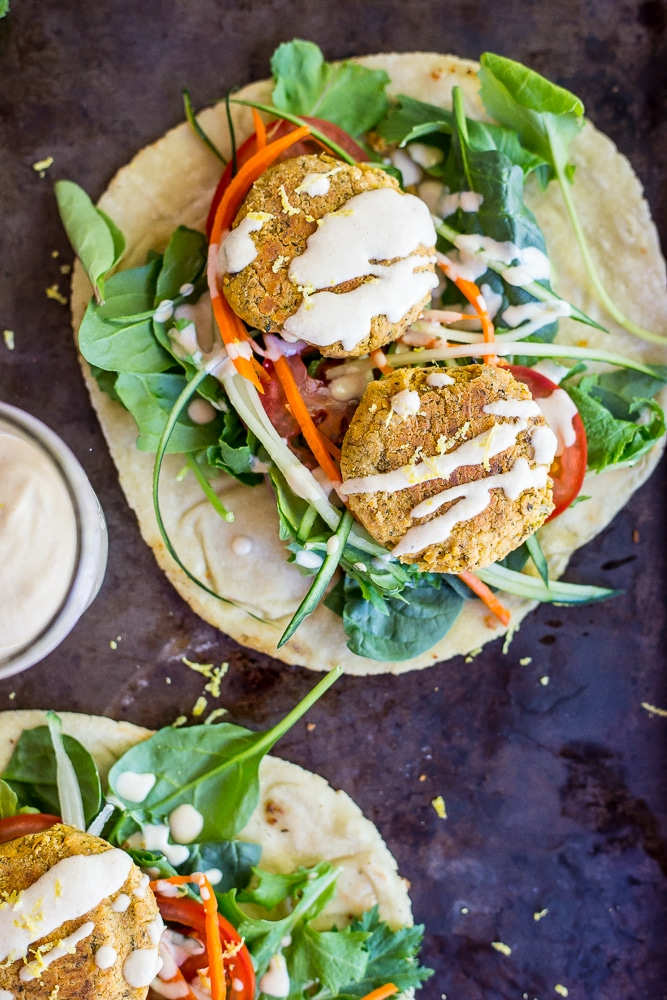 Roasted Broccoli and Lemon Falafel Pitas-5685