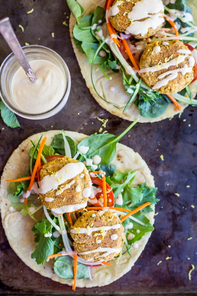 Roasted Broccoli and Lemon Falafel Pitas-5694