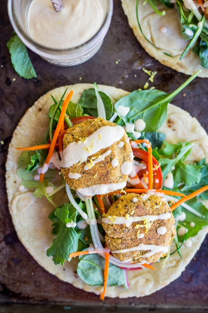 Roasted Broccoli and Lemon Falafel Pitas-5703