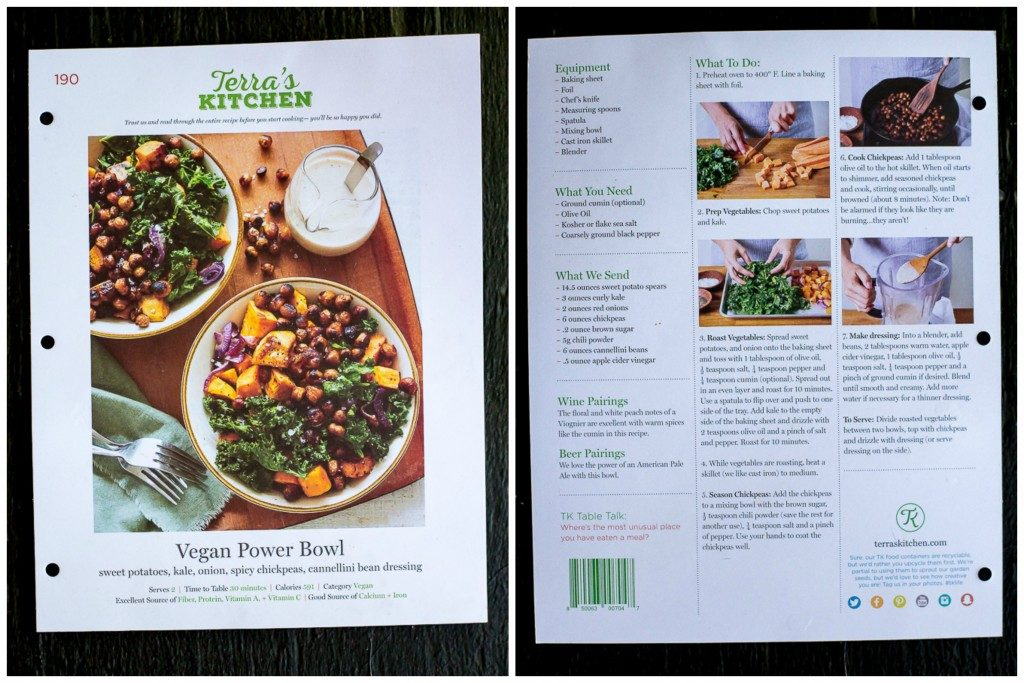 Vegan Power Bowls from Terra's Kitchen - A meal delivery service that offers delicious meals with fresh organic ingredients that come together in 30 minutes or less!