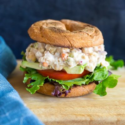 Easy Chickpea & White Bean Salad Sandwiches