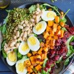 Vegetarian Cobb Salad with Roasted Sweet Potato